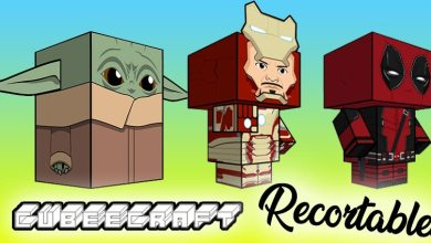 Recortables frikis cubeecraft