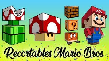 Recortables especial Mario Bros