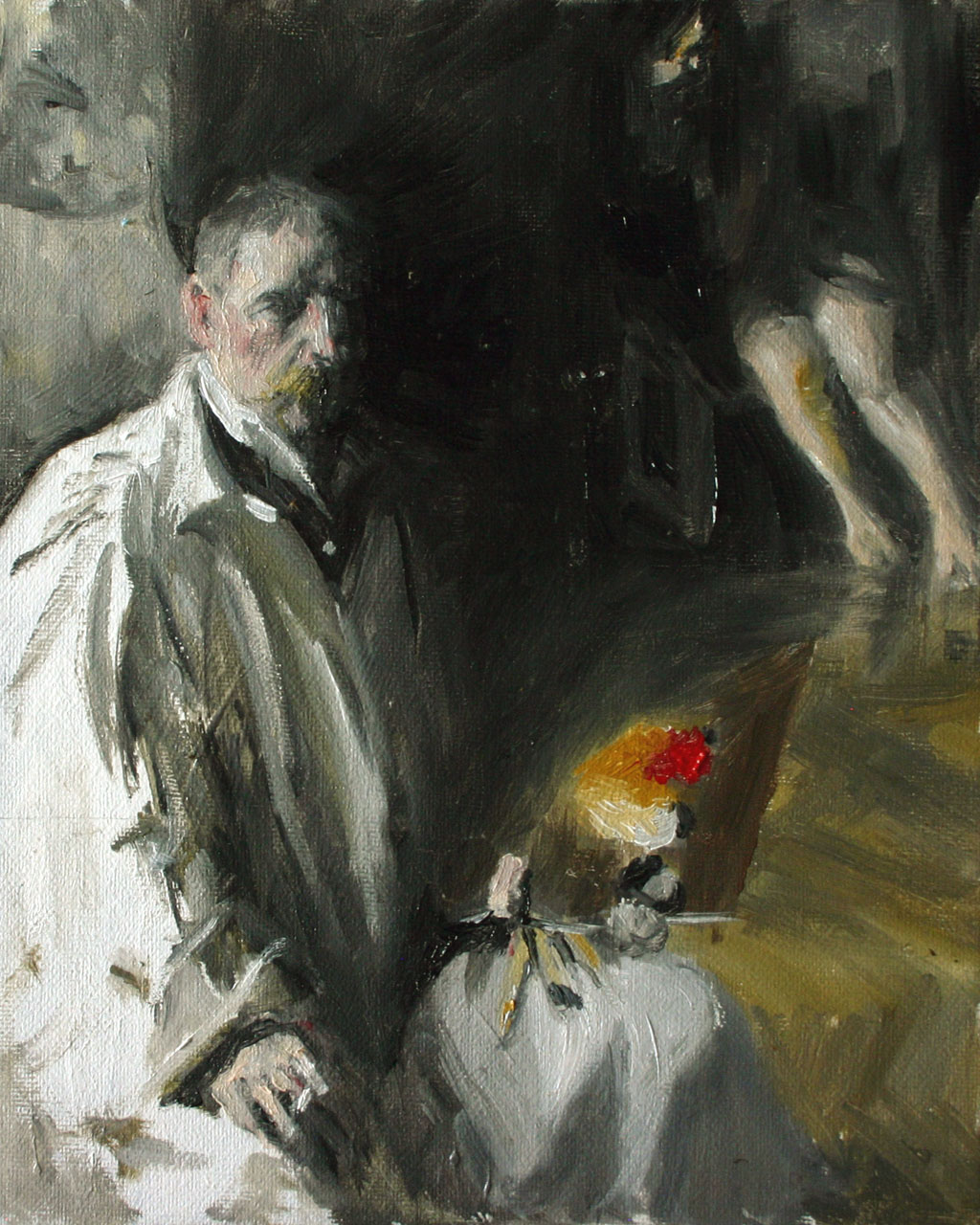 Self-Portrait-with-model-after-Anders-Zorn