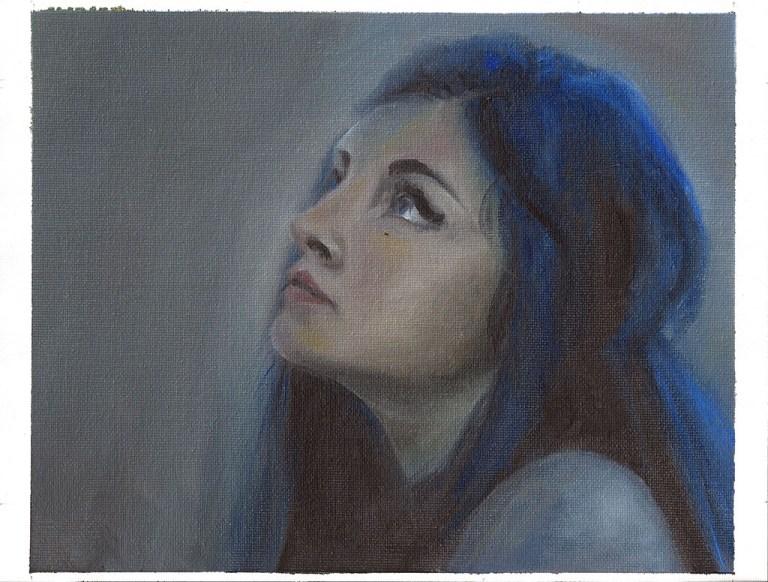 Blue Hair Portrait Study