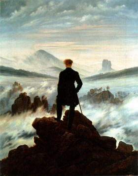 Der Wanderer über den Nebelmeer (wanderer above the sea of fog), 1818