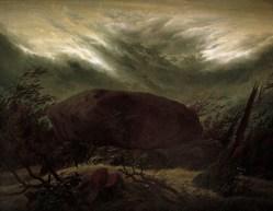 Hünengrab im Herbst (cairn in autumn), 1820
