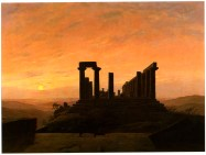 Junotempel im Agrigent (temple of Juno in Agrigent), 1830