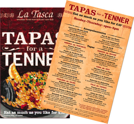 Tapas for a Tenner