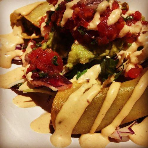 crispy prawn tacos