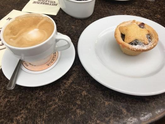 Christmas Mince Pie and coffee
