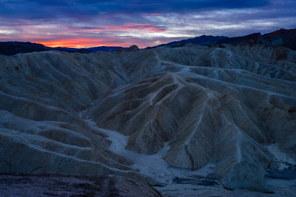 The badlands around Zabriskie Point