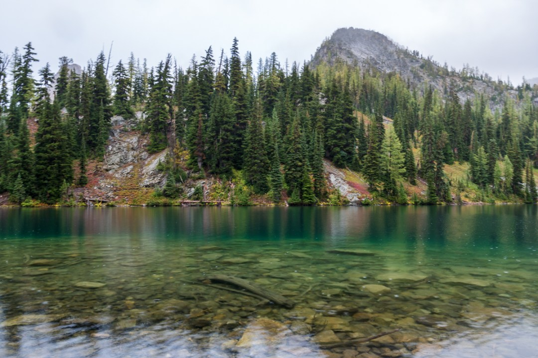 Clear waters at Blue Lake in the North Cascades