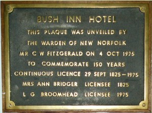 A plaque claiming the pub is Australia's oldest