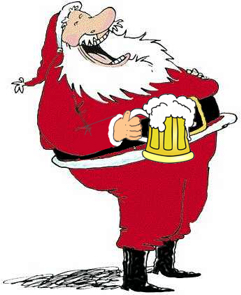 Santa Claus And The Beer Time Gents