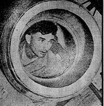 SAILOR Makes Beer Barrels - RECONSTRUCTION TRAINEE – Neil Catt inspects the interior of an 18-gallong beer barrel. A former R.A.N. member, Catt has chosen to become a cooper in civilian life, constructing two barrels a day - The Daily New (Perth) Wednesday 29 January 1947.