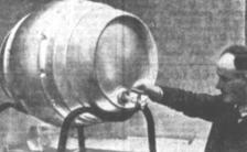 METAL Beer Barrel - The aluminium beer barrel with double skin, which is claimed to be lighter, cleaner, and afford better insulation than the old type of wooden barrel was among the thousands of exhibits which were seen at this year's British Industries Fair Queensland Times (Ipswich) Friday 16 July 1948.