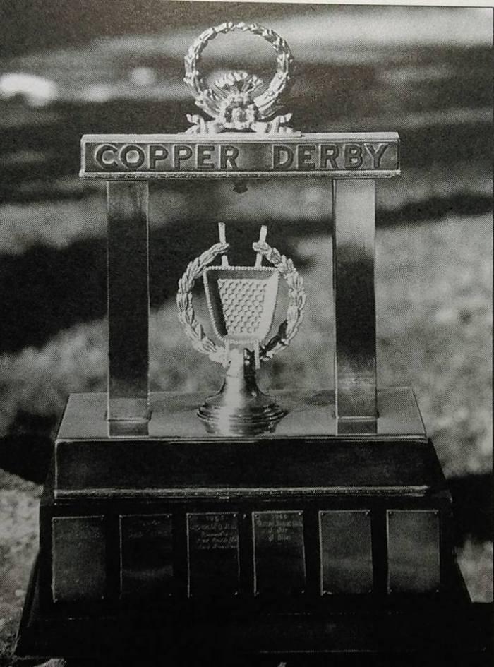 copper derby trophy