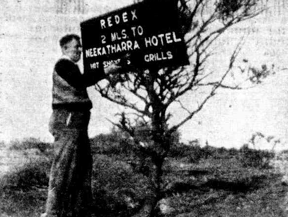 meekatharra hotel redex sign