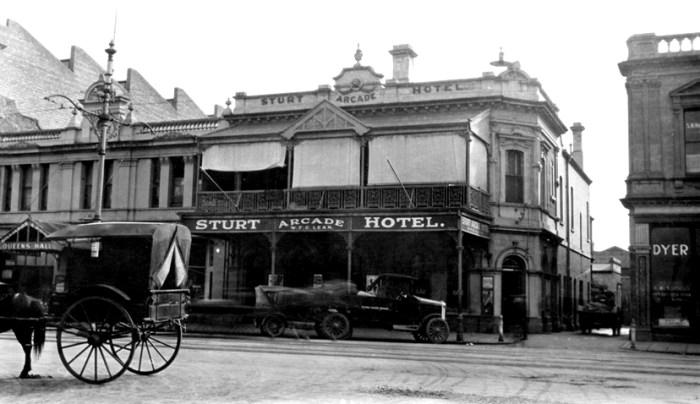 sturt arcade hotel adelaide 1924