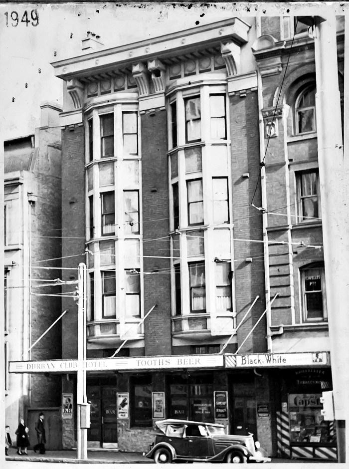 Durban Club Hotel 1949