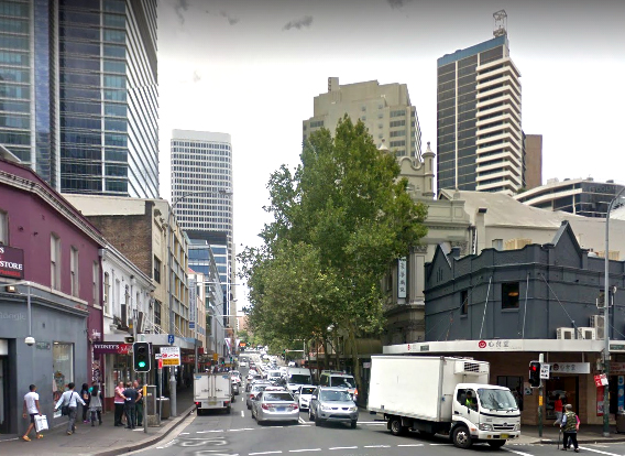 corner sussex and goulburn streets haymarket google