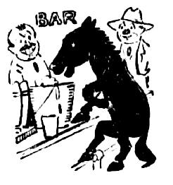horse at bar