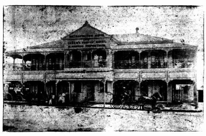 metroploitan hotel charters towers 1892