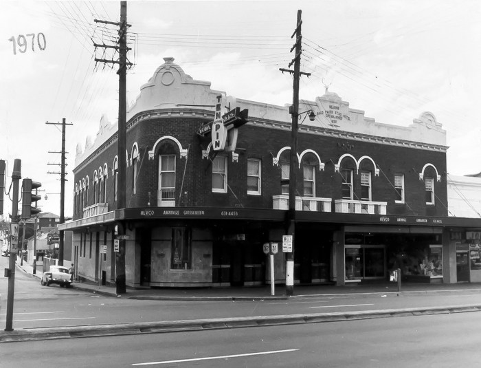 Bald Faced Stag Hotel Leichardt NSW 1970 ANU