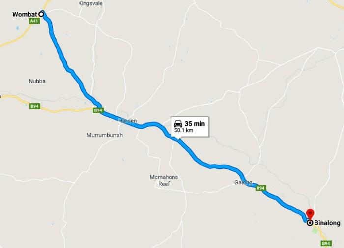 wombat to binalong map 2