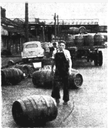 beer barrel spill melbourne 1949
