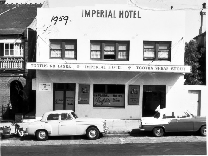 Imperial Hotel North Sydney 1959 anu