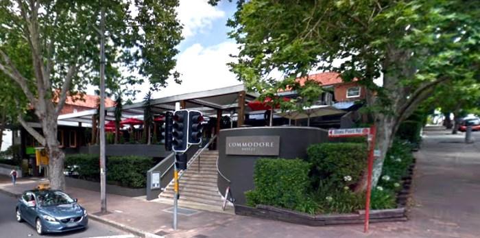 Commodore Hotel North Sydney Google