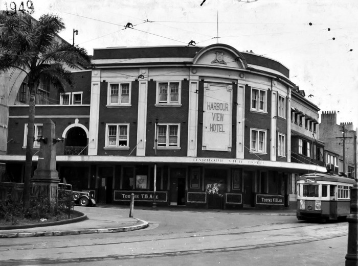 Harbour View Hotel Sydney 1949 anu