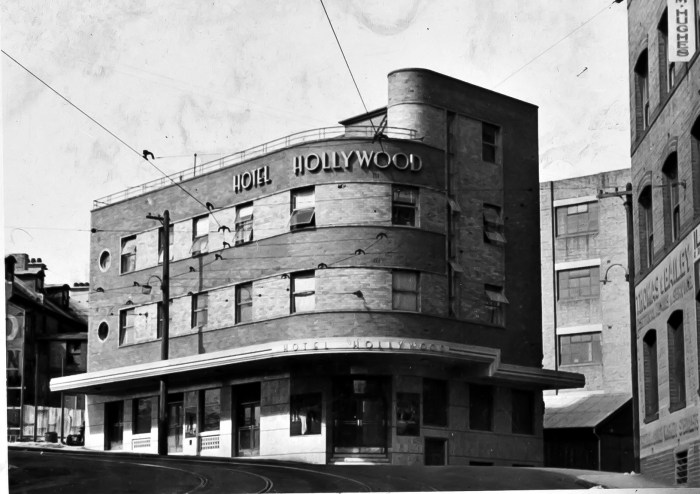 Hollywood Hotel Surry Hills Sydney 1949 anu