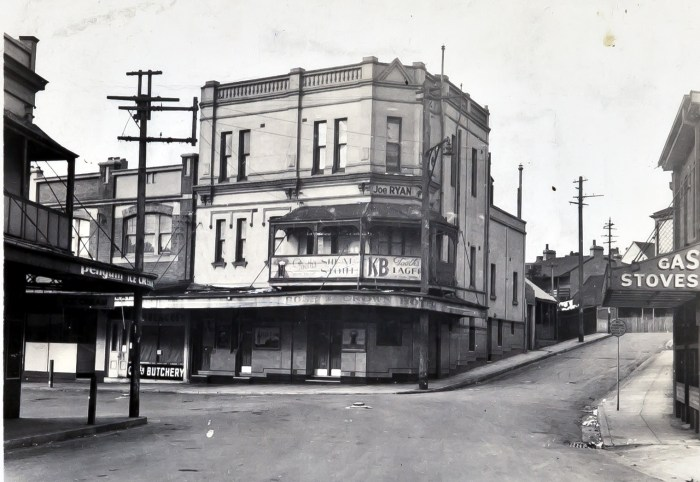 Rose and Crown Hotel Paddington1949 anu