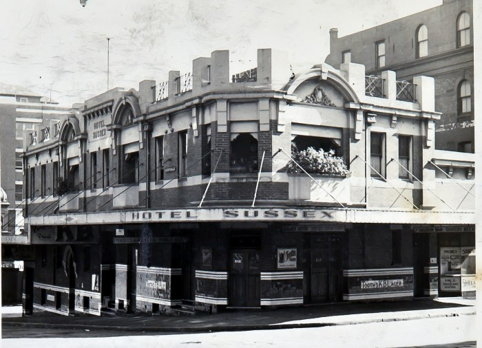 Sussex Hotel Sydney 1949 anu