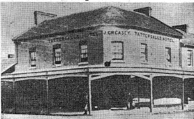 Tattersalls Hotel Parramatta 1850s