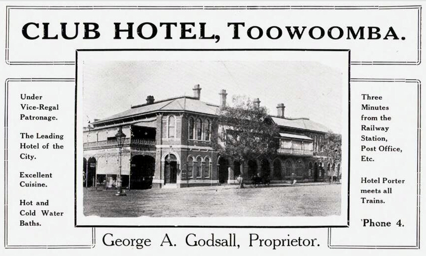 Queensland hotel advertisements