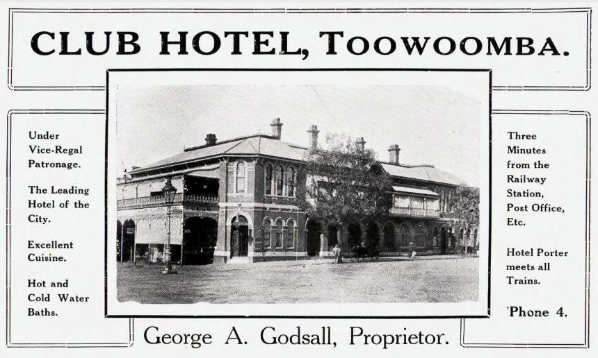 Queensland hotel advertisements