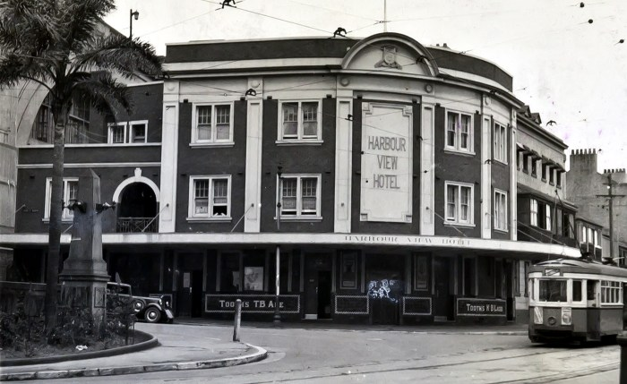 Harbour View Hotel The Rocks 1949 anu