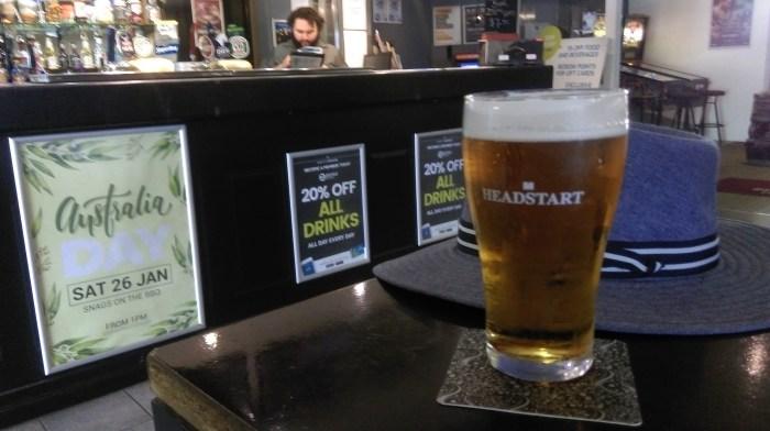 belfield hotel bar beer hat