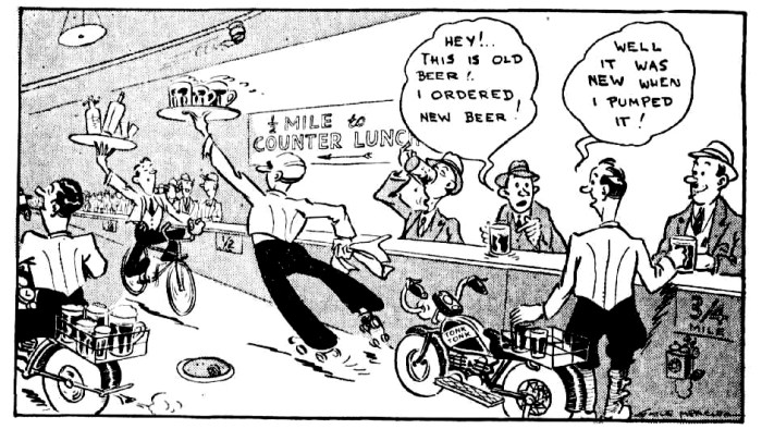 longest bar cartoon 1939