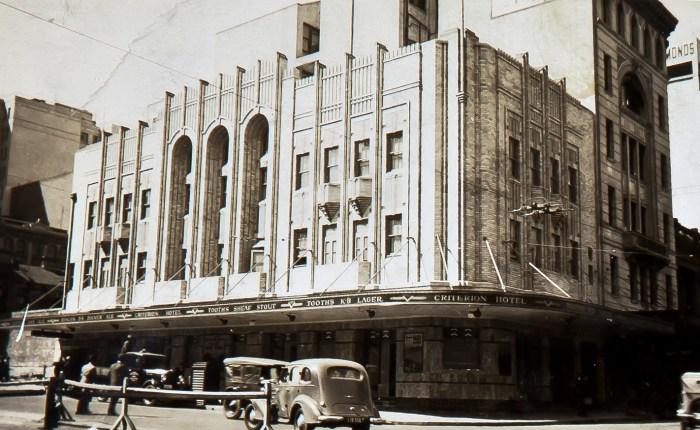 Criterion Hotel Pitt and Park Sts 1940 anu