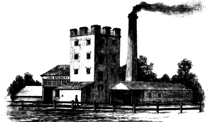Reschs Lion Brewery Cootamundra NSW 1886