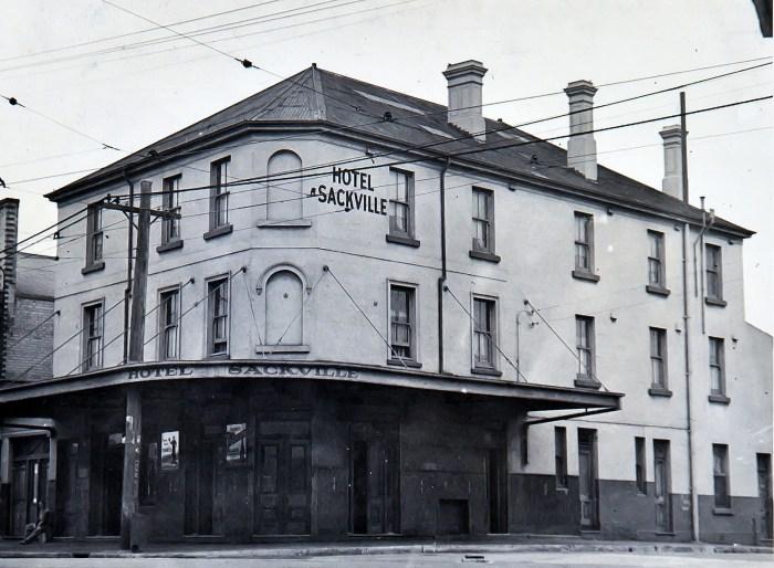 Sackville Hotel Balmain 1949 anu