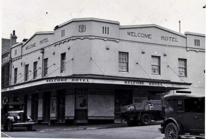 Welcome Hotel Rozelle 1949 anu