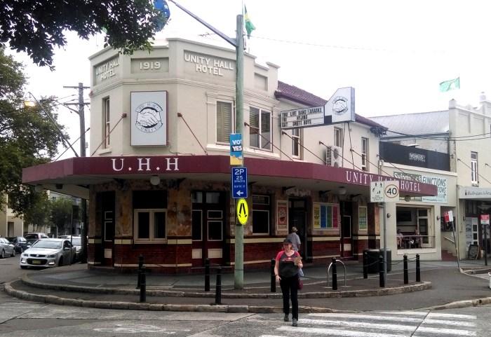 unity hall hotel balmain 1