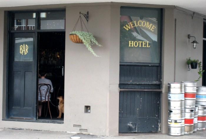 welcome hotel rozelle bar door