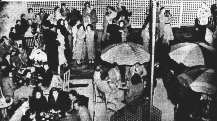 Club Hotel Burnie Beer Garden 1953