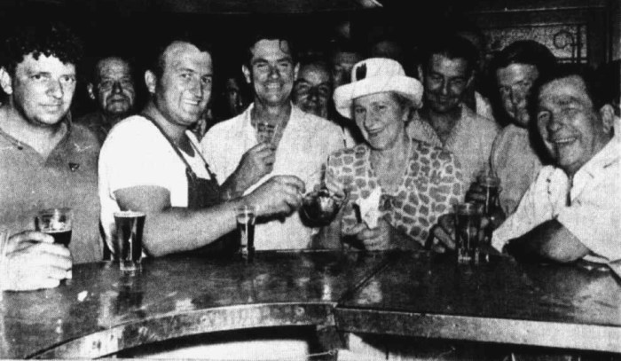 gladys ramsway barmaid great britian hotel melbourne retired 1967