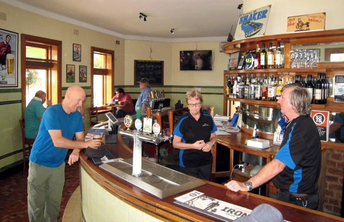 Margaret Gary Hart behind bar Rylstone Hotel Rylstone NSW 2019 TG 1