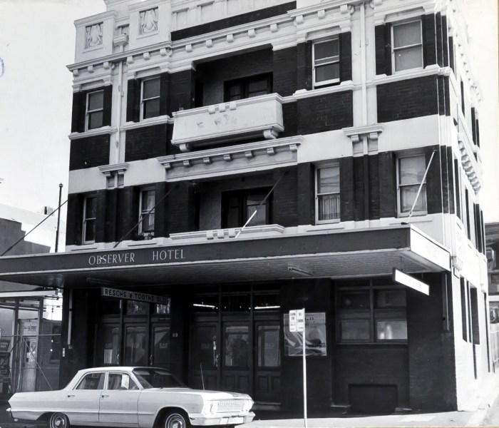 Observer Hotel George Street The Rocks Sydney 1970
