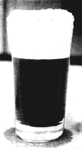 glass of adams tasmanian ale 1904
