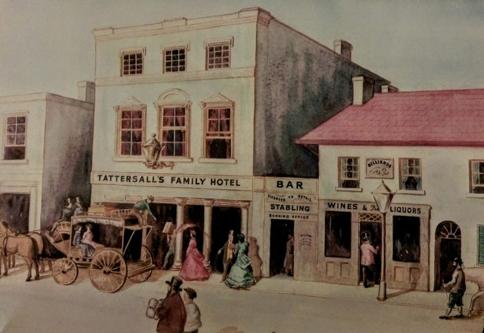 tattersalls Family Hotel Pitt St Sydney 1865 b